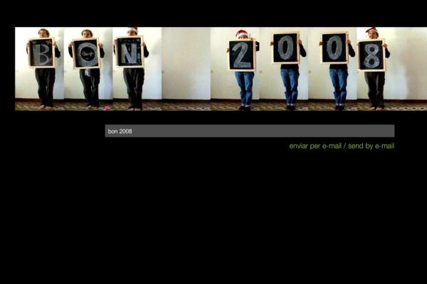 Captura de la pantalla del projecte Bon 2008