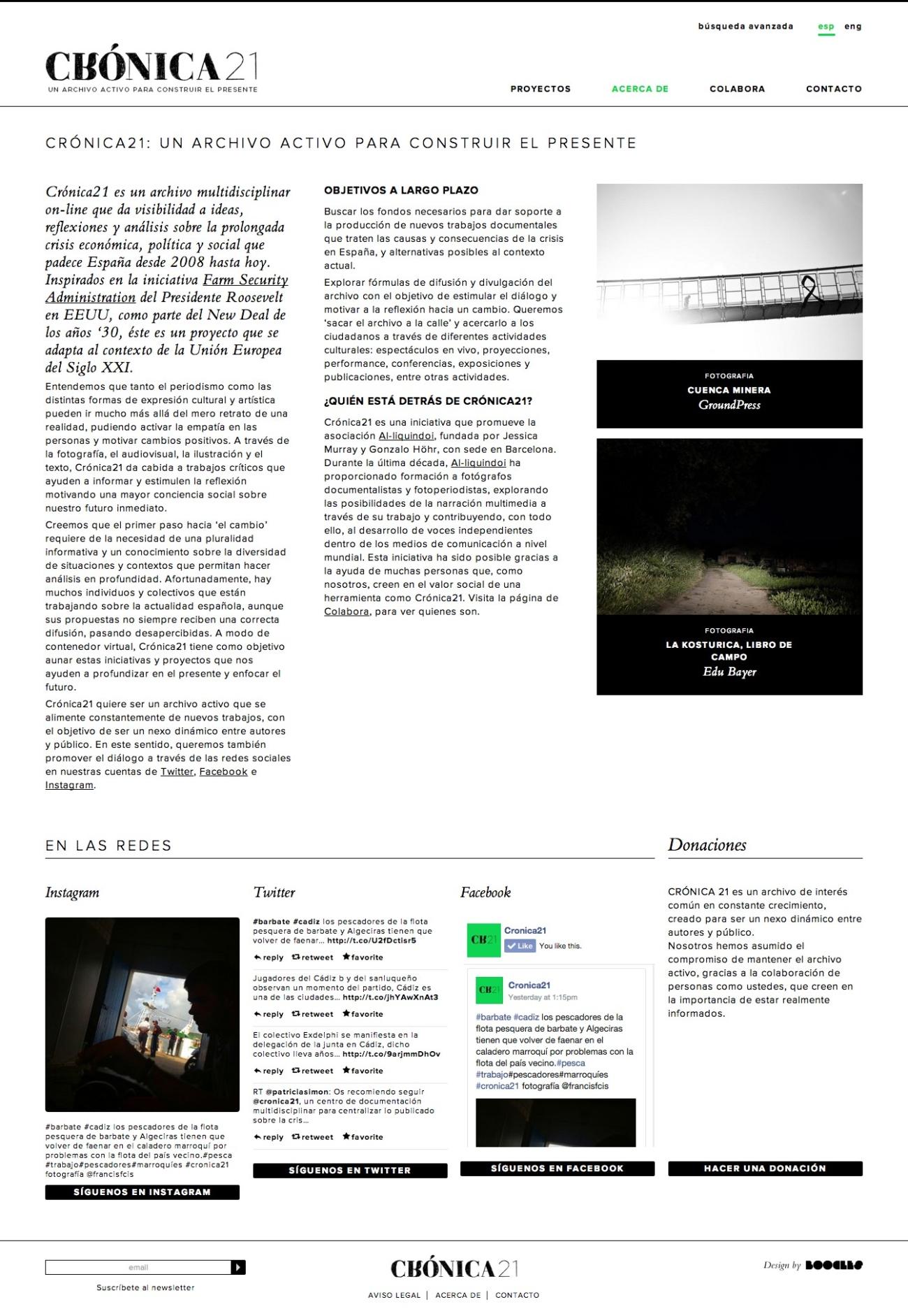 Web de Crónica 21