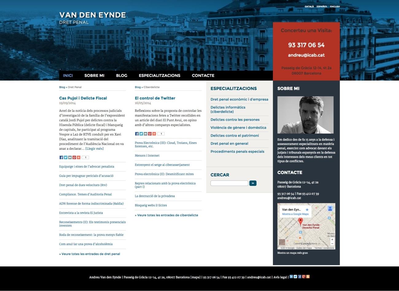 Web Andreu Van den Eynde