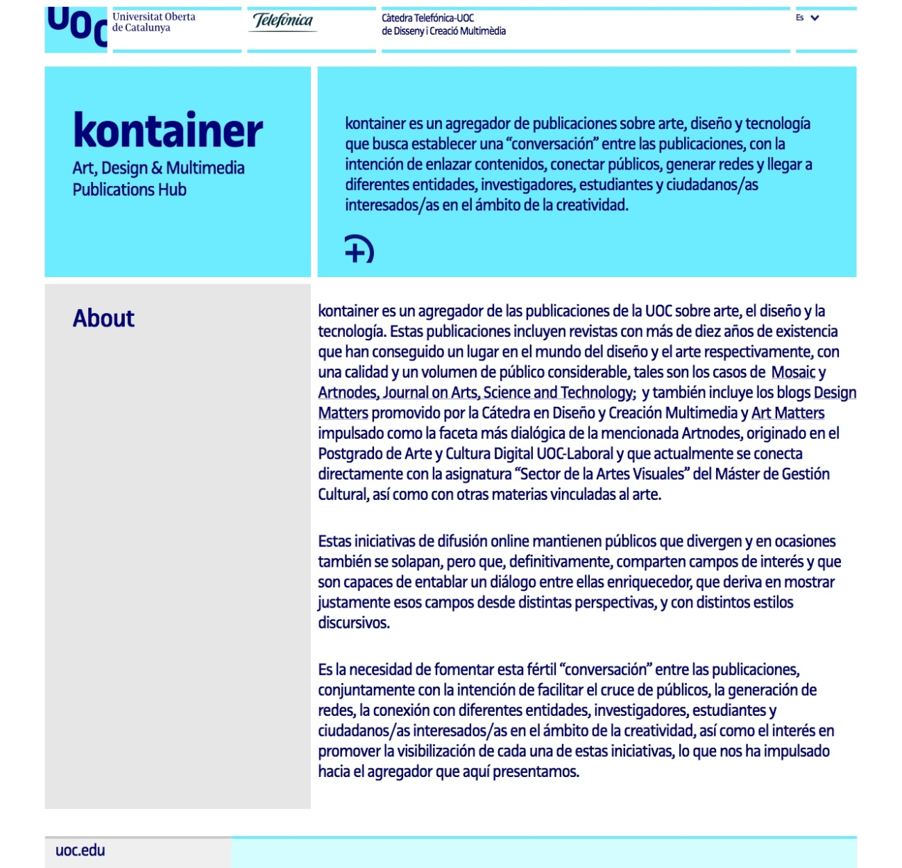 Web Kontainer UOC