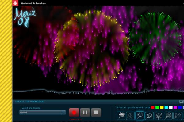 Piromusical interactiu de la Mercè 2008