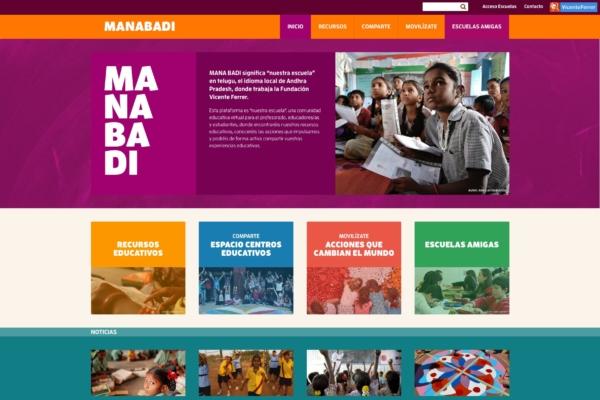 Web Manabadi. Fundación Vicente Ferrer