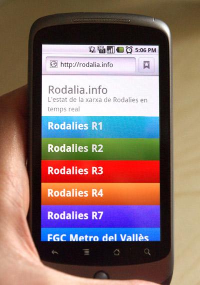 Rodalia.info al mòbil