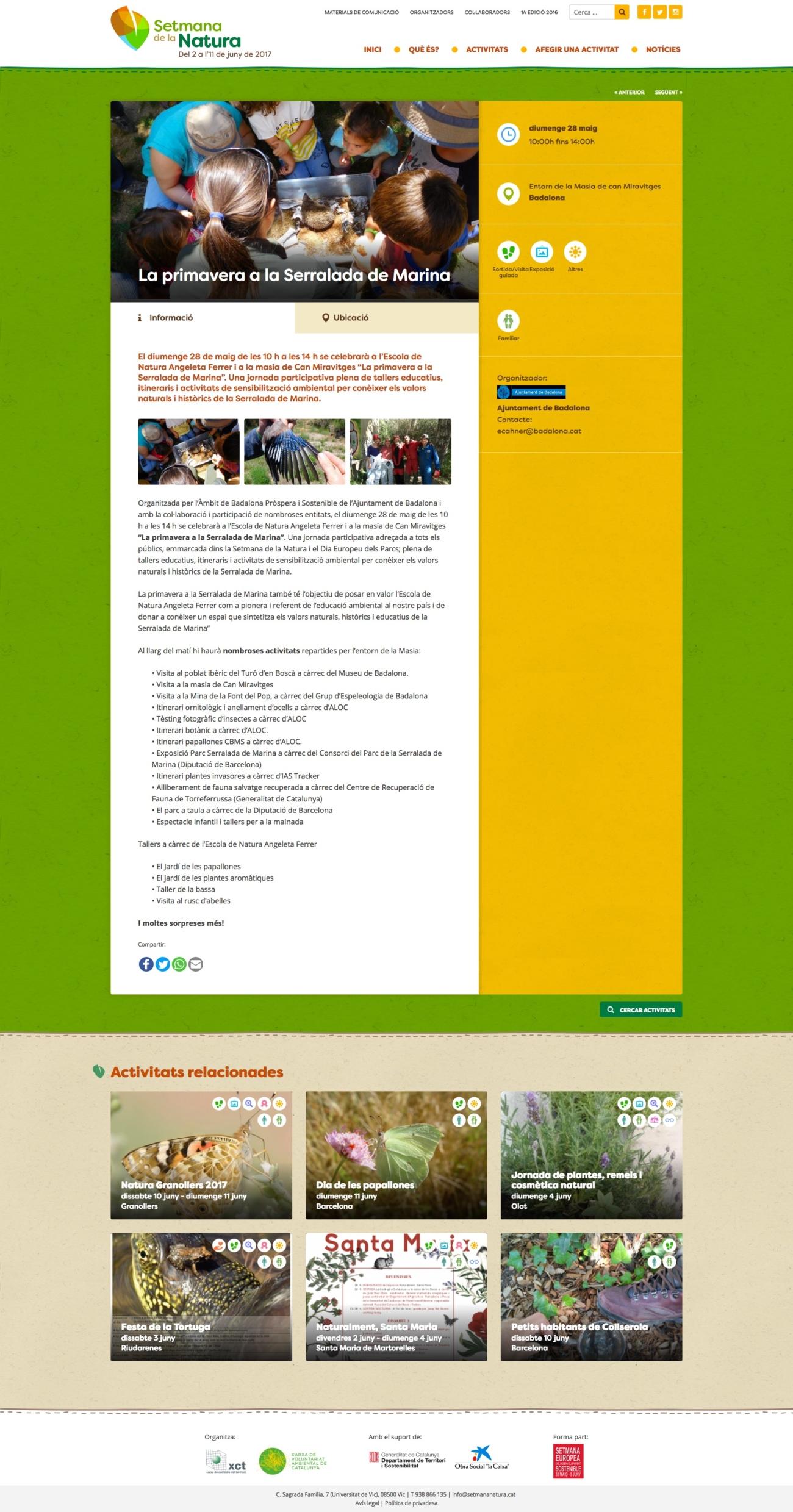 Web de la Setmana de la Natura