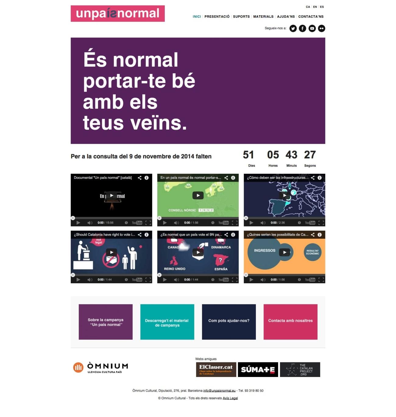 Web Un País Normal, Òmnium Cultural