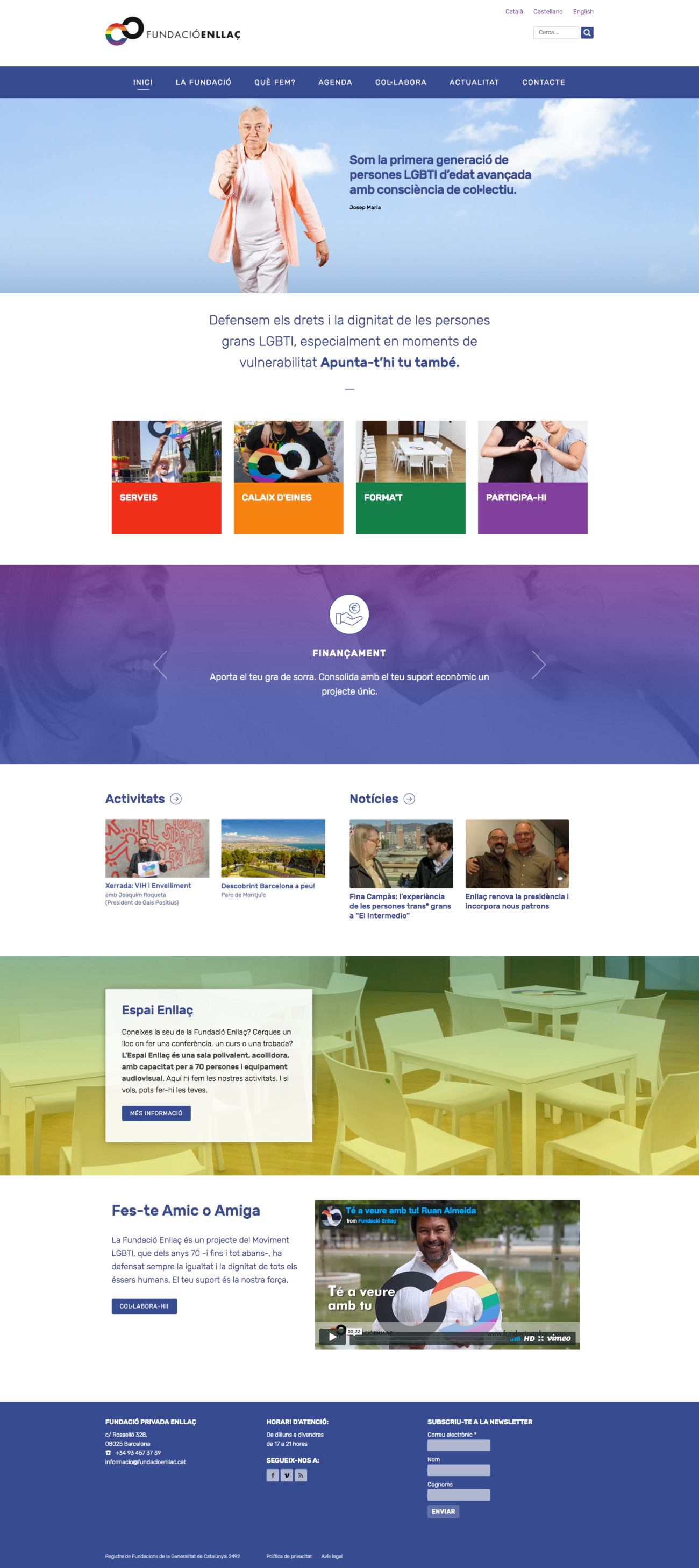 Web de la Fundació Enllaç