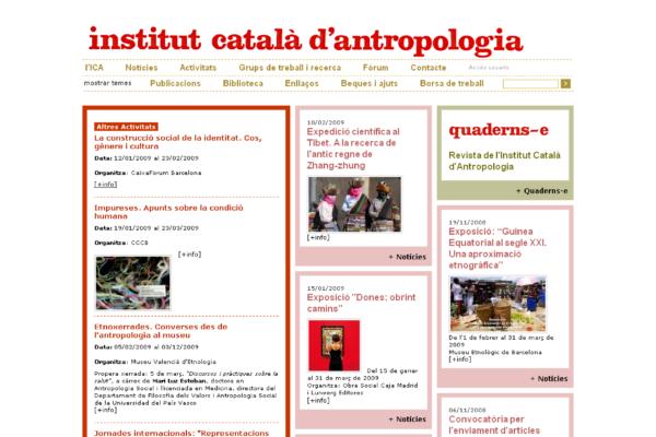 Web de l'Insitut Català d'Antropologia