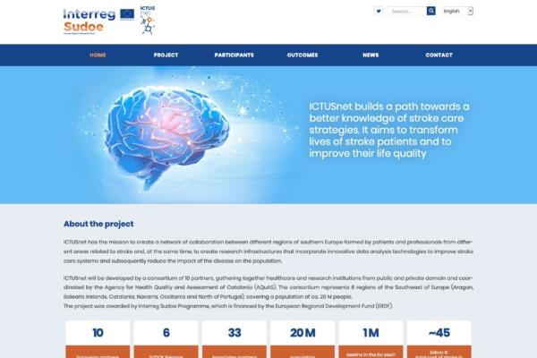 Captura de la home del web d'Ictusnet