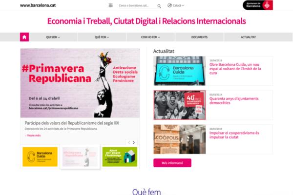 Web de la Primera Tinència de l'Ajuntament de Barcelona