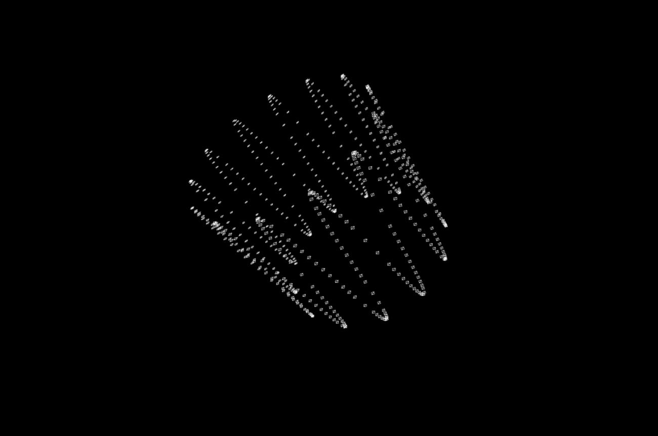 Formes geomètriques en blanc i negre generades amb el REACT