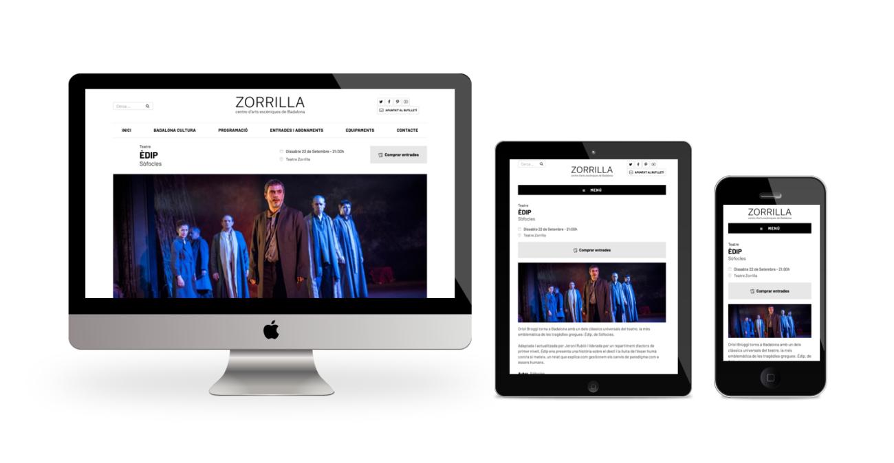 Web Teatre Zorrilla